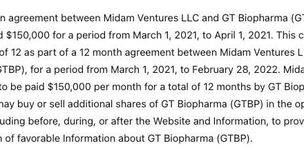 GT Biopharma Announces the Appointments of Gregory Berk, M.D. to Chief Medical Officer and Jeffrey S. Miller, M.D. to Consulting Chief Scientific Officer
