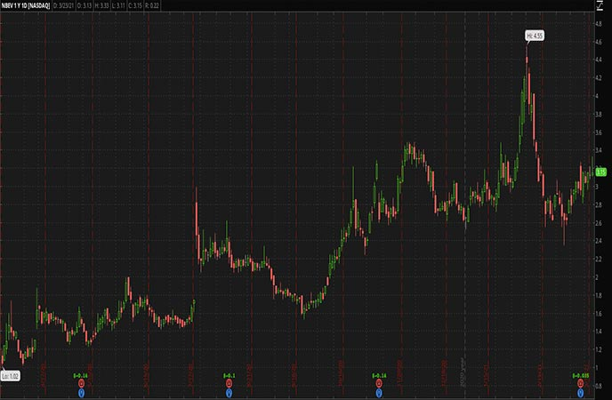 Penny_Stocks_to_Watch_Newage Inc. (NBEV Stock Chart)