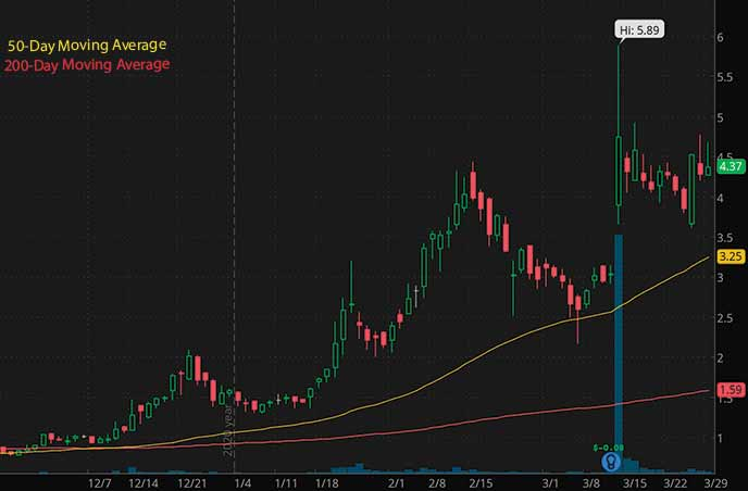 hot penny stocks to watch Seelos Therapeutics SEEL stock chart