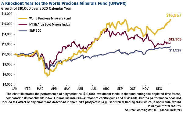 A knockout year for the World Precious mETALS fUND UNWPX