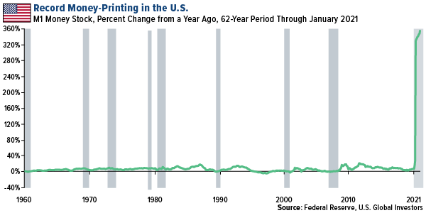 Record Money Printing in the U.S.